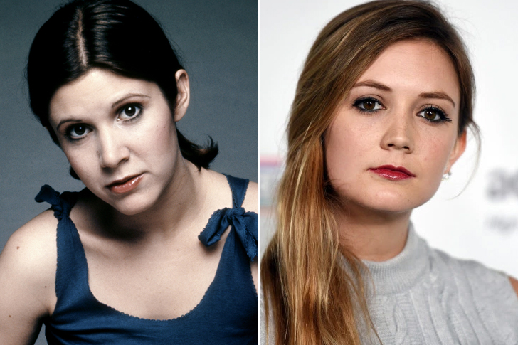 Carrie Fisher - Billie Lourd (23 Years Old)