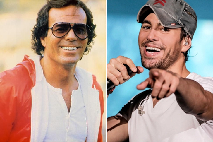 Julio Iglesias - Enrique Iglesias (42 Years Old)