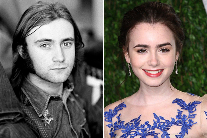 Phil Collins - Lily Collins (23 Years Old)