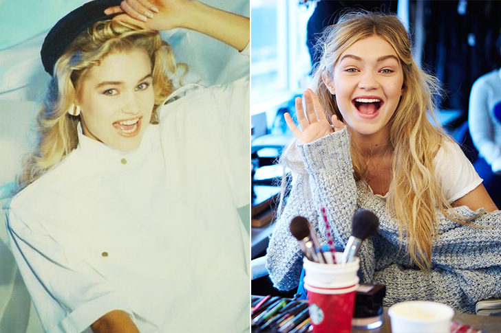 Yolanda Hadid - Gigi Hadid (18 years old)