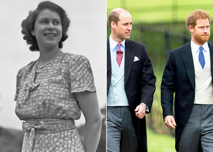 PRINCES WILLIAM & HARRY - QUEEN ELIZABETH'S GRANDSONS