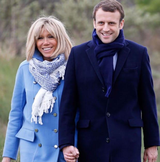 Brigitte Trogneux and Emmanuel Macron
