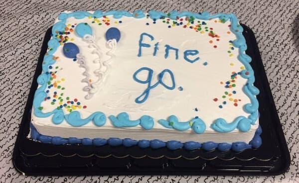 The Passive Aggressive Cake