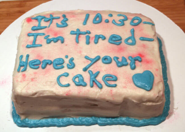 What Honesty On A Cake Looks Like