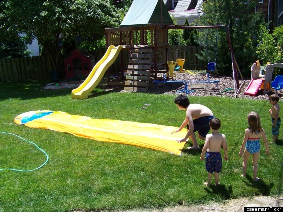Makeshift Water Slide