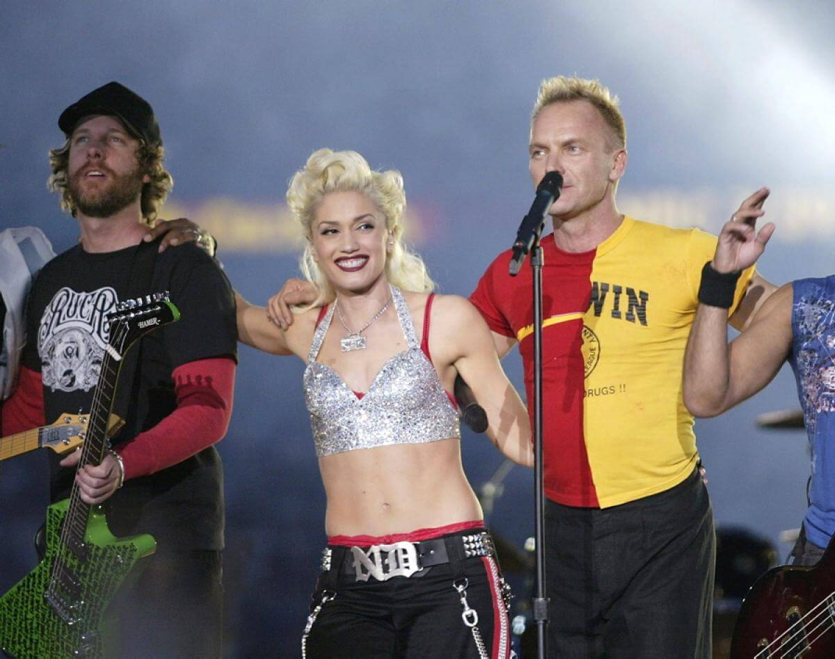 2003: Shania Twain, Sting, No Doubt