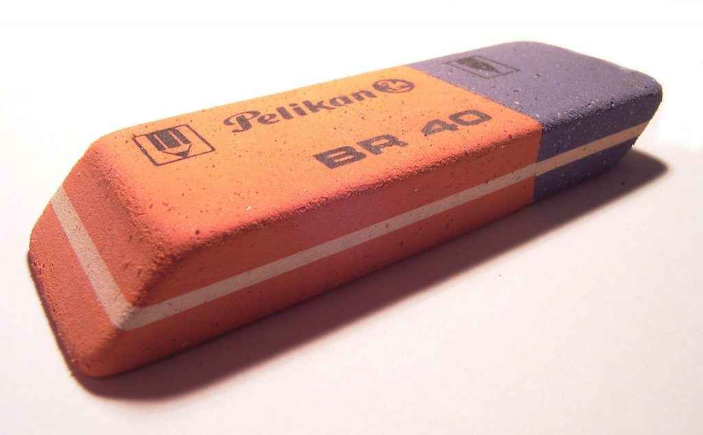 Blue Part On The Eraser