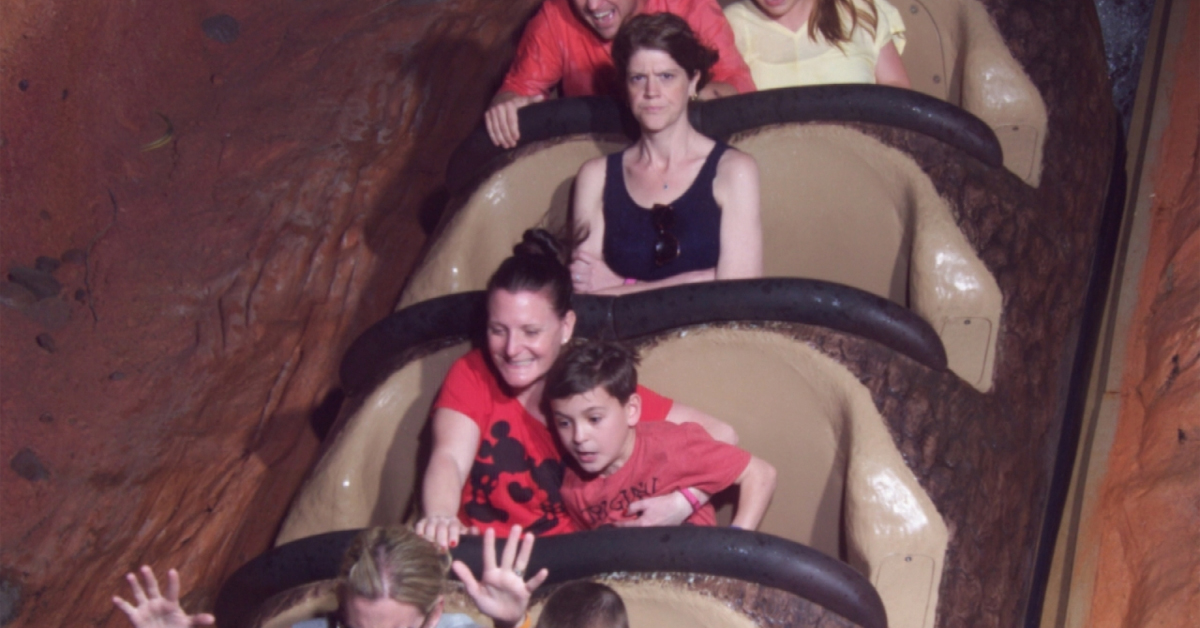 Grumpy Aboard Splash Mountain