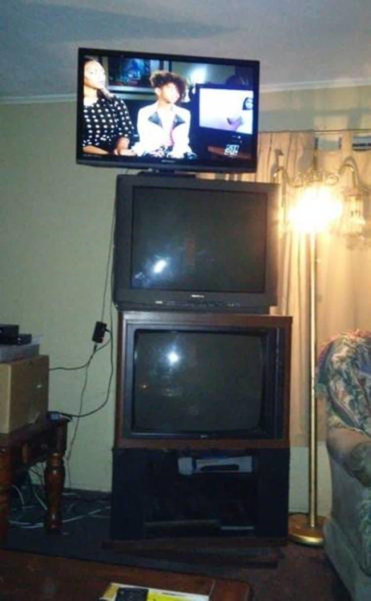 A Mountain of TVs