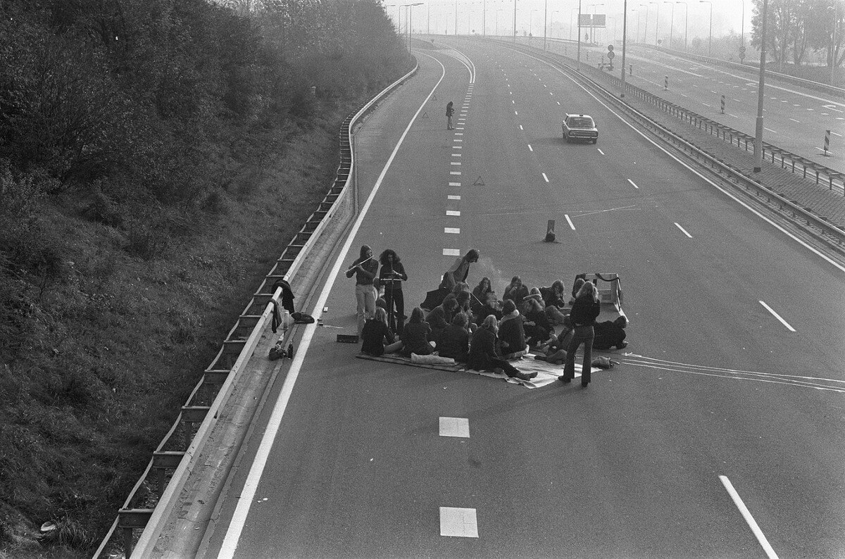 A Lovely Picnic in the Middle of the Highway