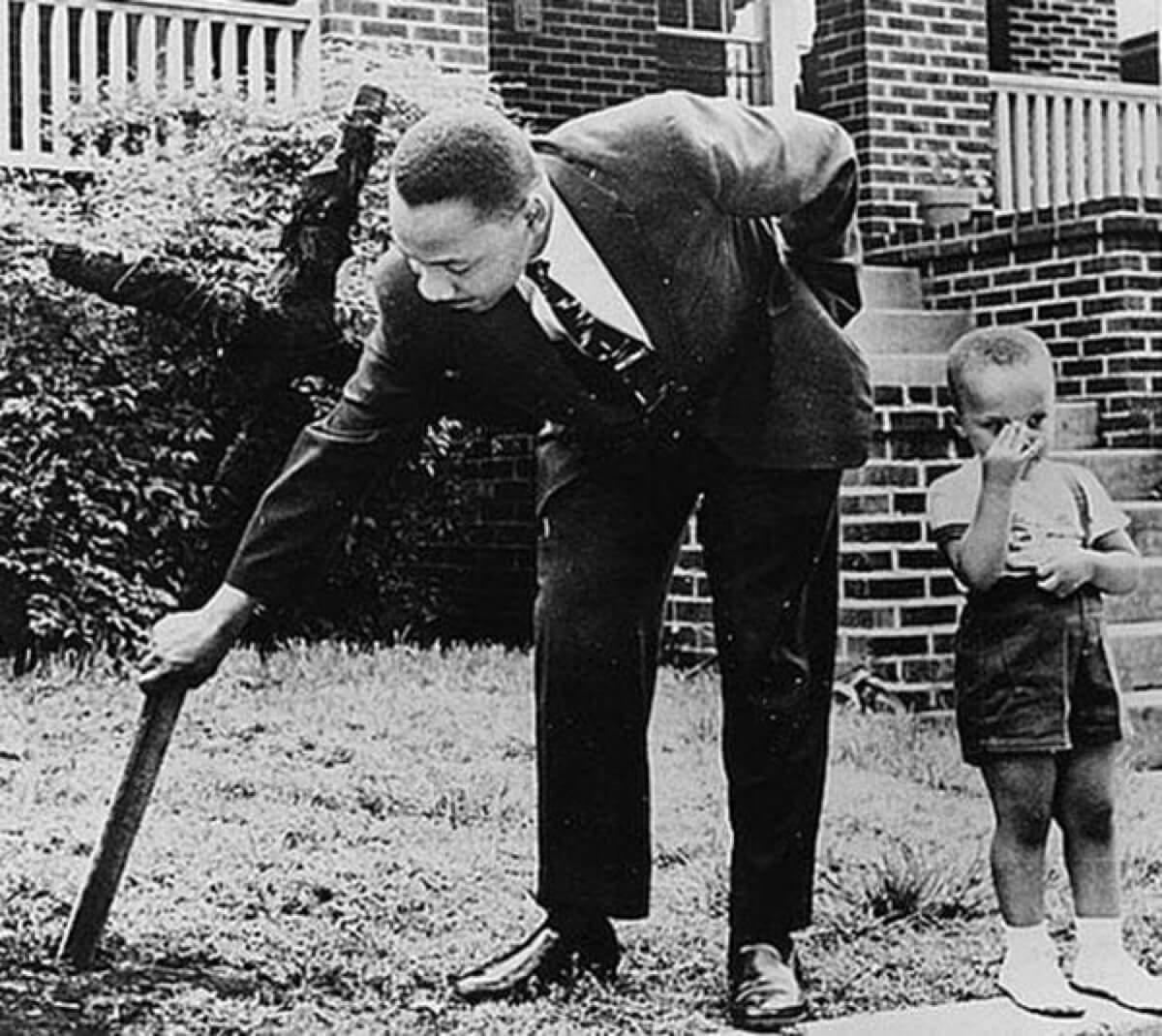 Finding A Burning Cross on Martin Luther King Jr.'s Fron Lawn