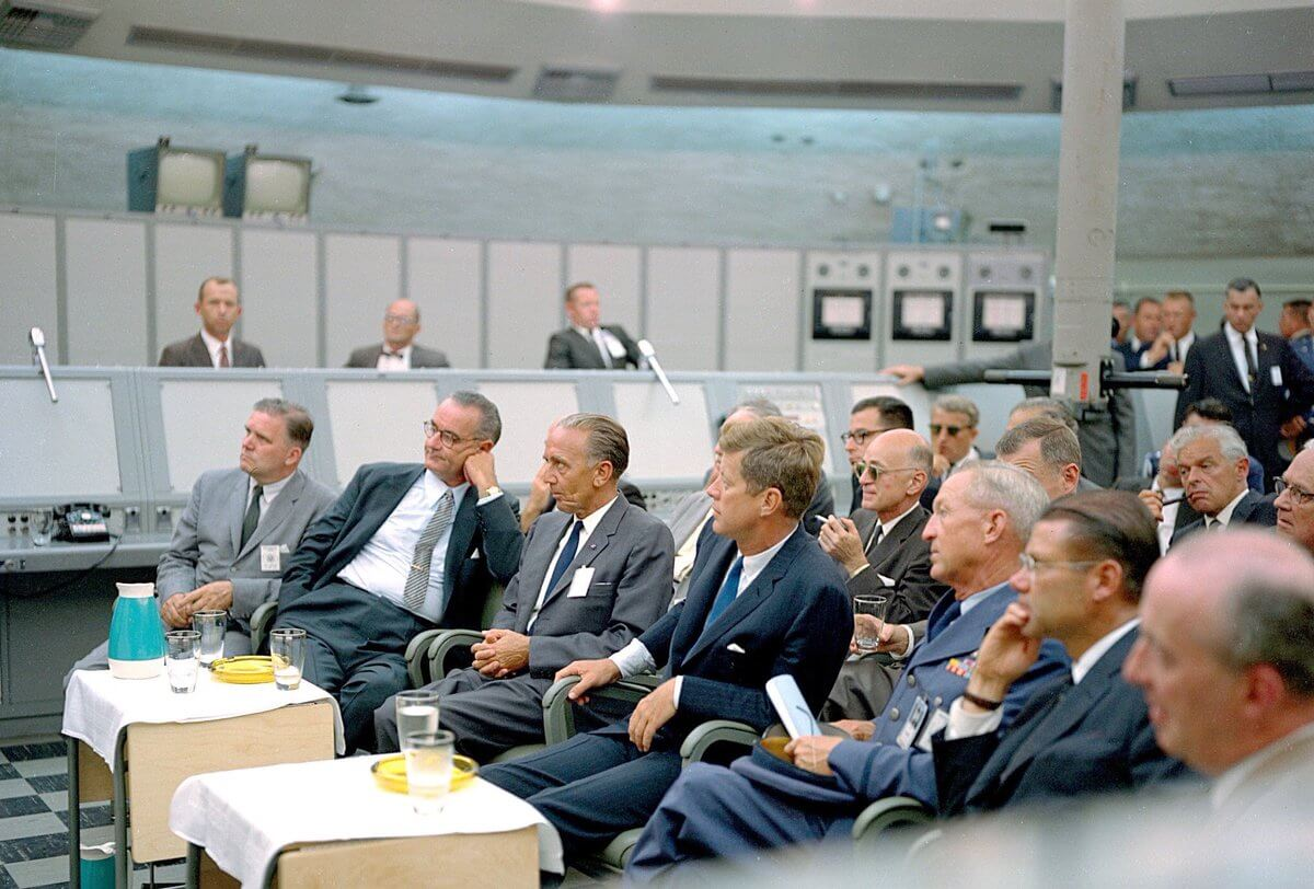 Lyndon Johnson And John F. Kennedy During the Cuban Missile Crisis