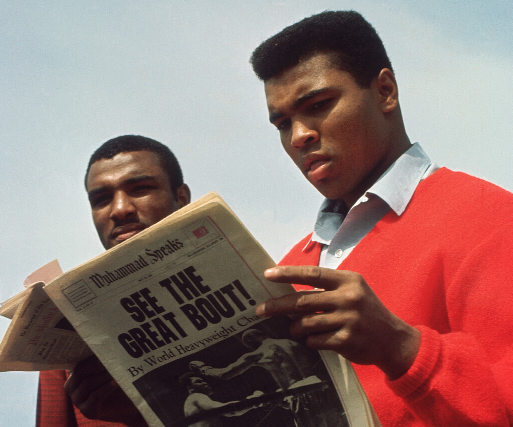 Muhammad Ali Reading About His Fight