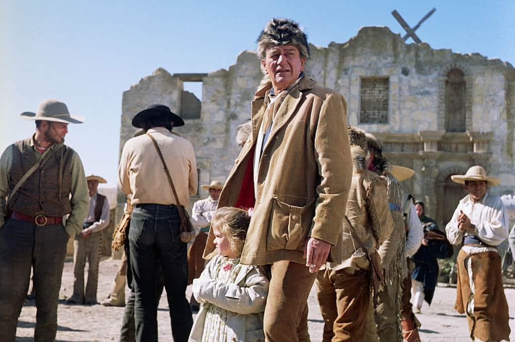 John Wayne And His Daughter On Set