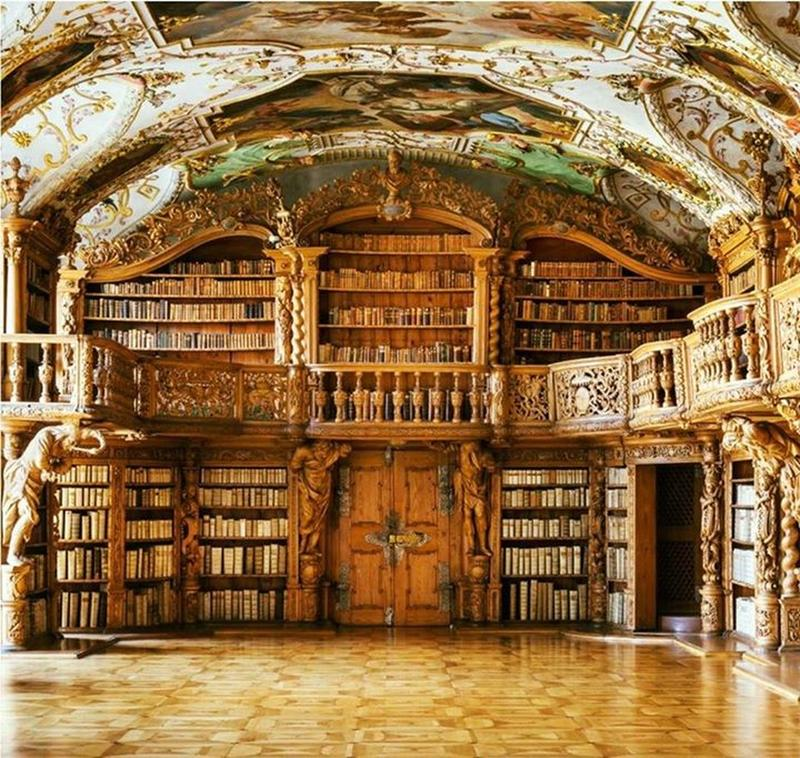 The Library Of The Waldsassen Abbey Has Thousands Of Books Bound in Pigskin
