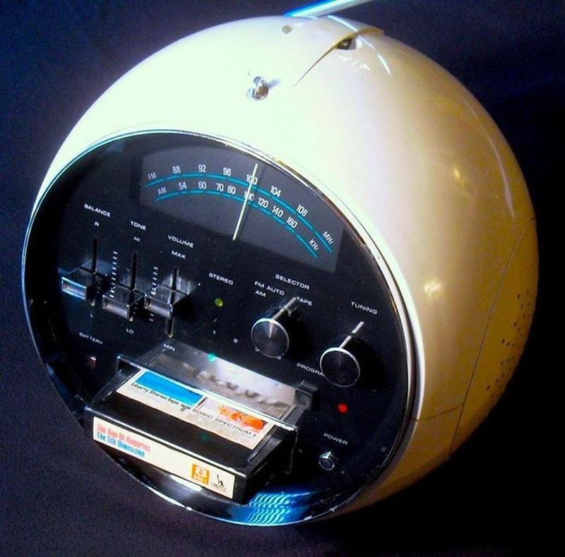 An 8-Track Cassette Radio Dating Back To The 1970s