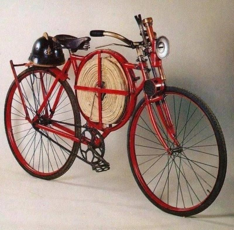 A Restored Fire Fighter's Bicycle From 1905
