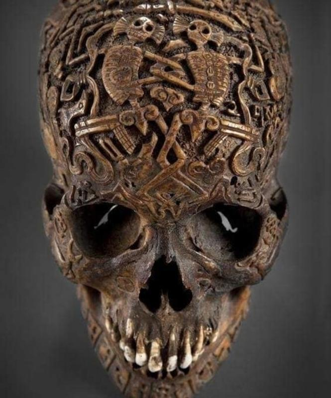 A Fascinating 300-Year-Old Carved Skull From Tibet