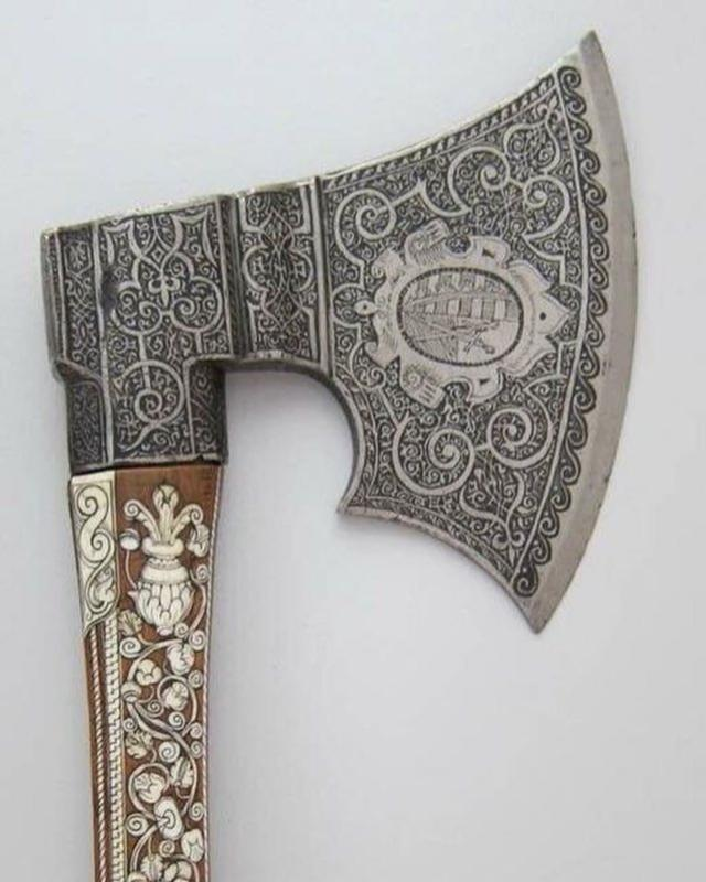 This Ornate Ax Was Made In Germany In The Late 1500s