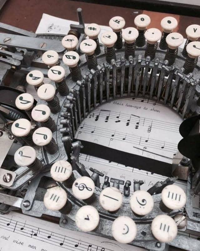 This Music Typewriter Had A Circular Keyboard With 33 Keys