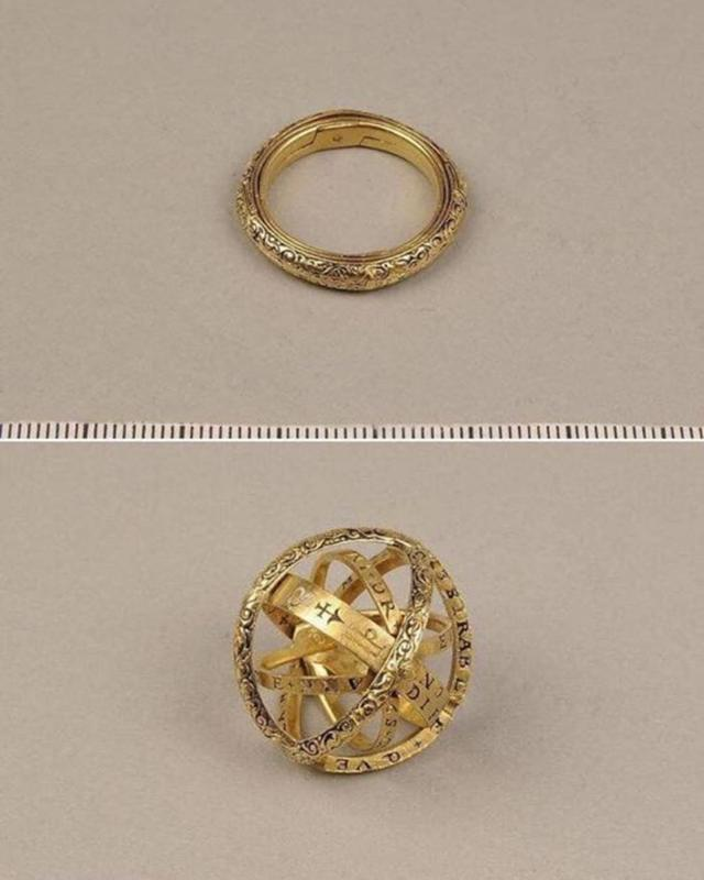 This 16th Century Ring Turns Into An Astronomical Sphere