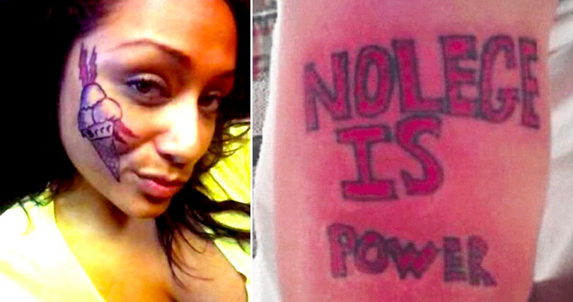 Think Long And Hard Before You Get A Tattoo... Otherwise You Might End Up Like These People