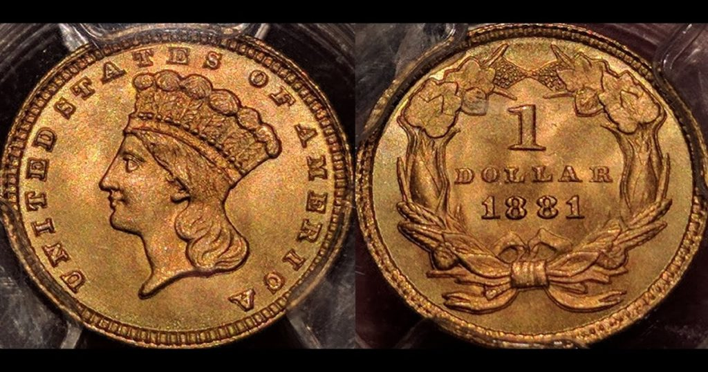 An 1859 No. 3 Gold Piece