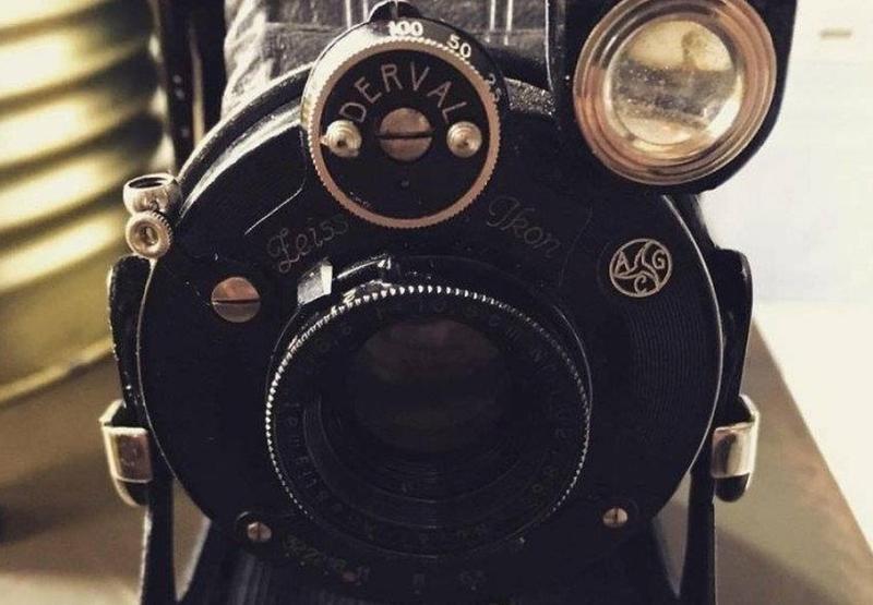 A câmera antiga
