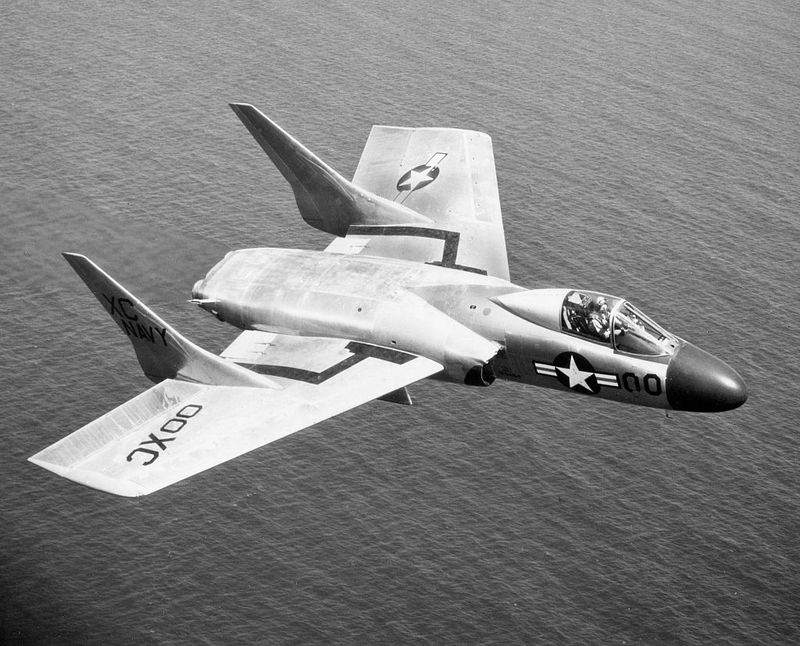 The Vought F7U Cutlass