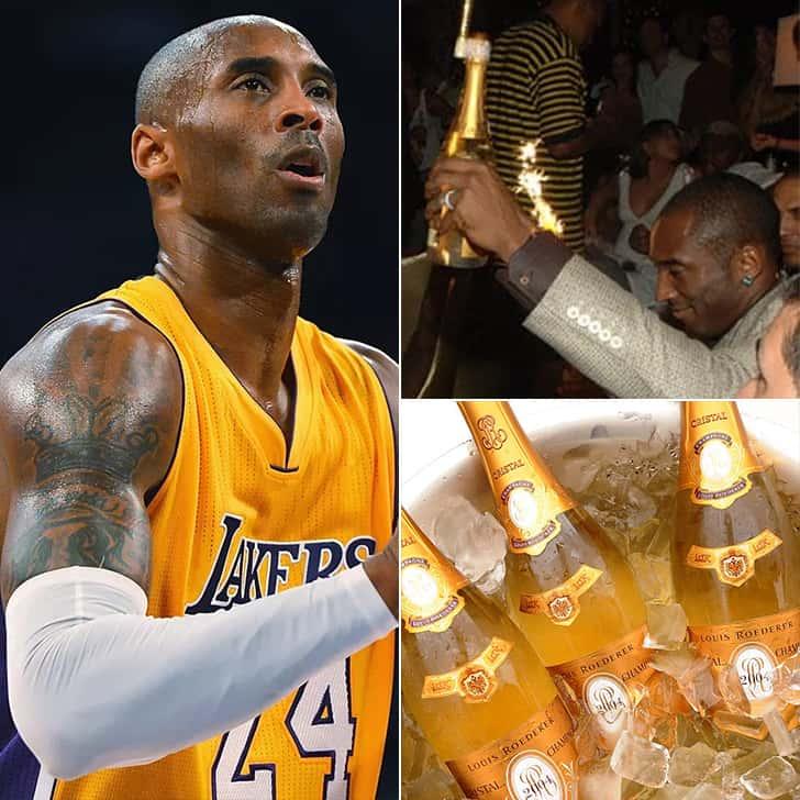 Kobe Bryant – Twenty Bottles of Cristal Champagne, $21K