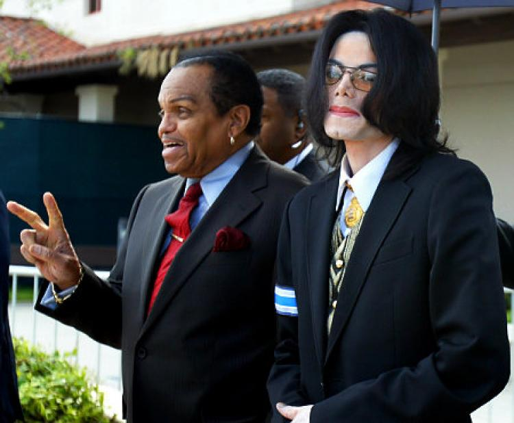 Michael Jackson And His Dad