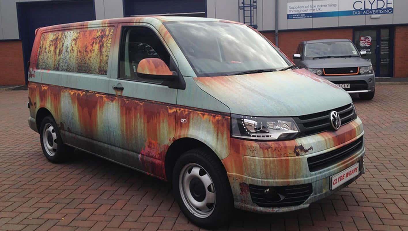 Rust-Covered Van
