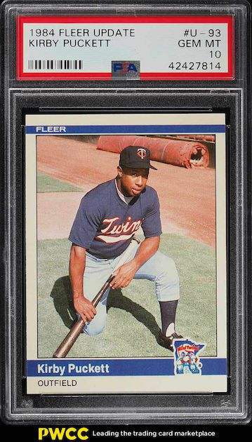 Kirby Puckett - 1984 Fleer Update