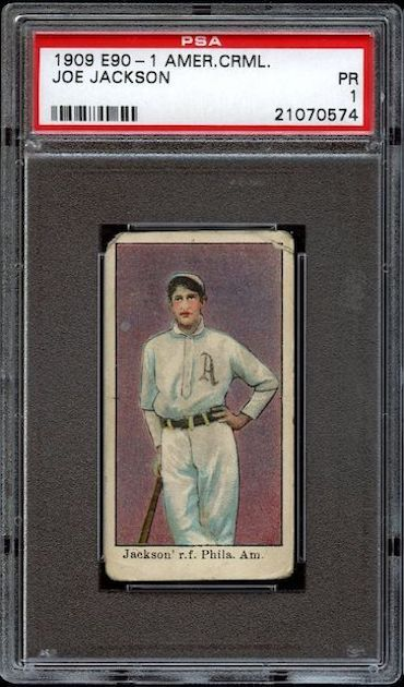 Shoeless Joe Jackson - 1909 American Caramel