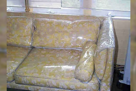 Take The Plastic Off Of Your Sofa