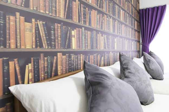 Avoid The Bookcase-Style Wallpaper