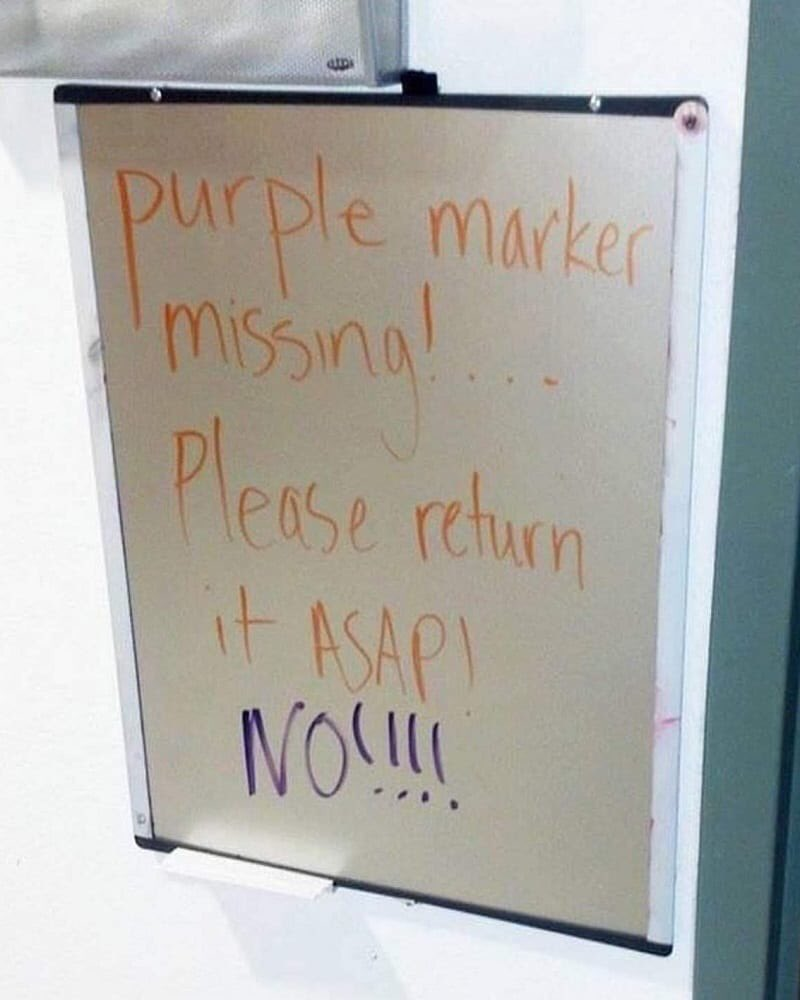 The Purple Marker Thief Struck Again