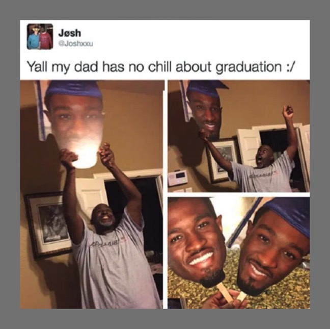 His Dad Is Proud Of Him